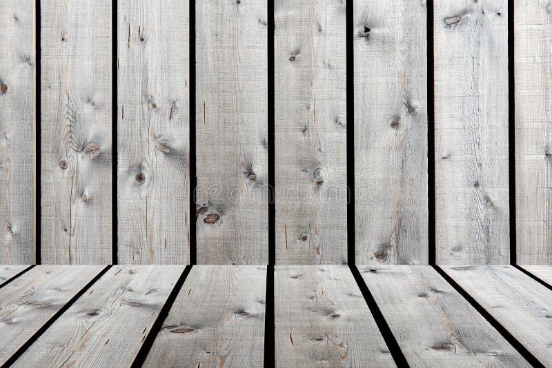 Het oude patroon van het grunge beige-bruine houten paneel met plankendetail, gra royalty-vrije stock foto