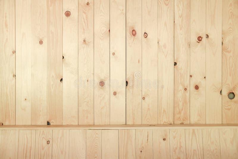 Het oude patroon van het grunge beige houten paneel royalty-vrije stock fotografie