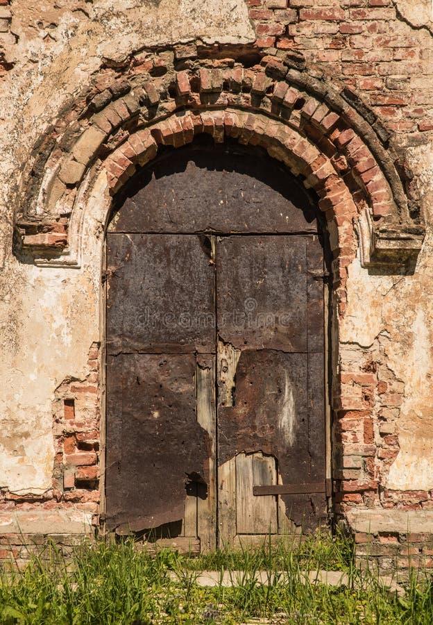 Het oude plan van deurrnego royalty-vrije stock afbeelding