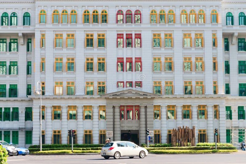 Het Oude Politiebureau van de Heuvelstraat in Singapore stock fotografie
