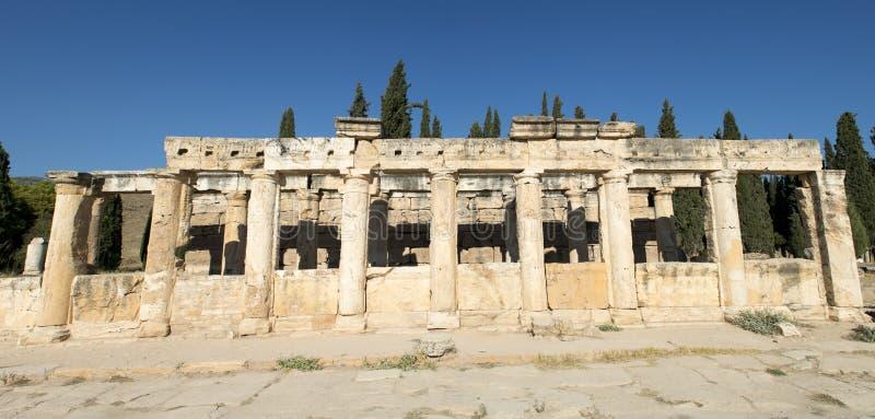 Het Oude Roman Panorama Van De Banner Van De Kolom Of Panoramisch Royalty-vrije Stock Afbeelding