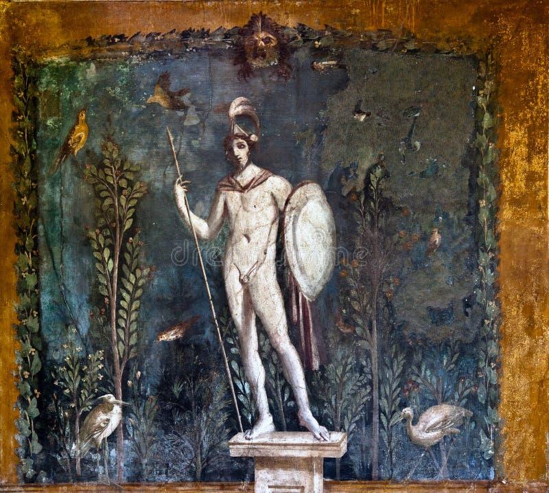 Het oude roman schilderen stock afbeelding