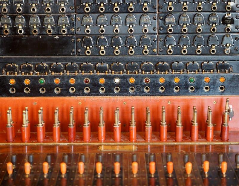 Het oude Schakelbord van de Telefoon royalty-vrije stock fotografie