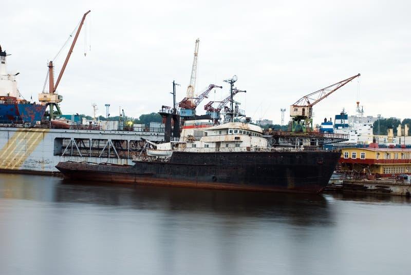 Het oude Schip van het Vervoer royalty-vrije stock afbeelding