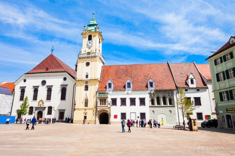 Het Oude Stadhuis van Bratislava royalty-vrije stock foto's