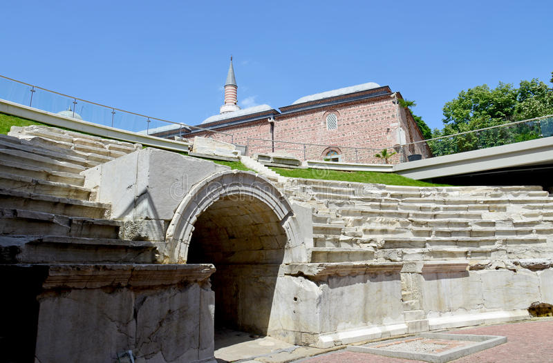 Het oude Stadion Philipopolis in Plovdiv stock fotografie