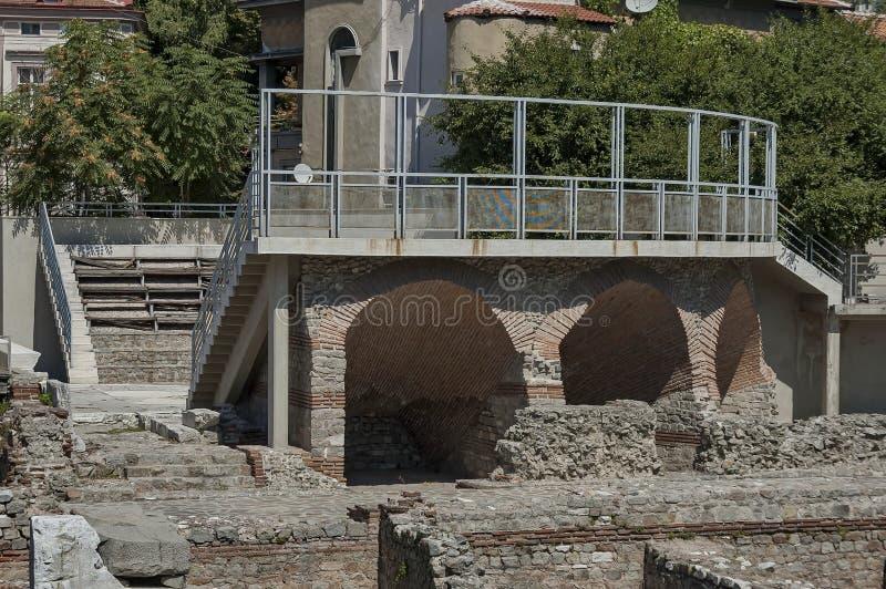 Het oude stadion Philipopolis in Plovdiv, Bulgarije royalty-vrije stock afbeeldingen