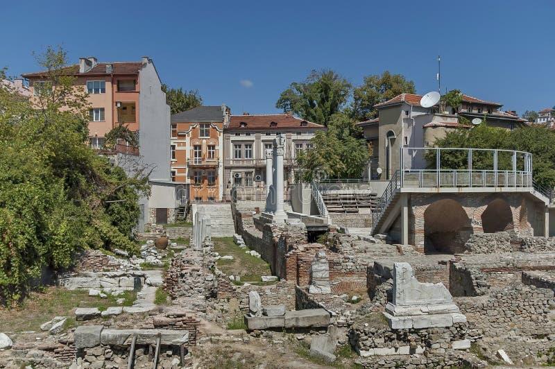 Het oude stadion Philipopolis in Plovdiv, Bulgarije stock foto's