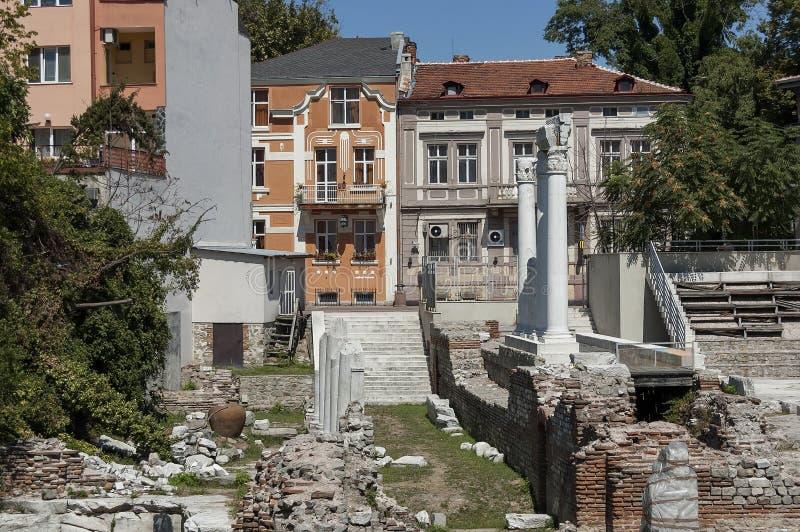 Het oude stadion Philipopolis in Plovdiv, Bulgarije royalty-vrije stock fotografie
