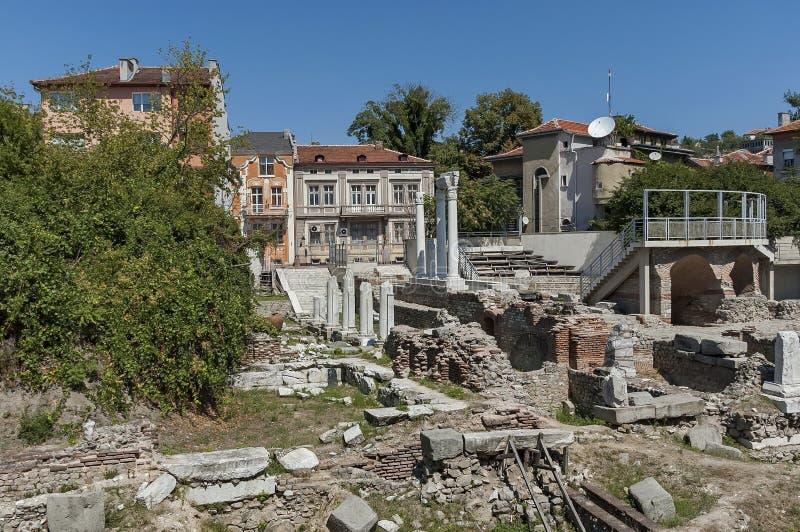 Het oude stadion Philipopolis in Plovdiv, Bulgarije royalty-vrije stock foto's