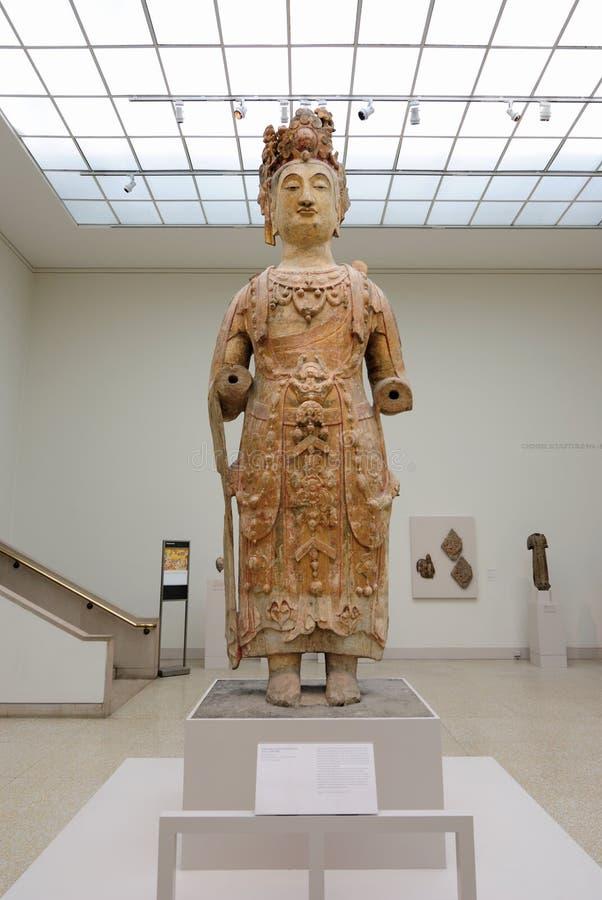 Het oude Standbeeld van Boedha stock afbeeldingen