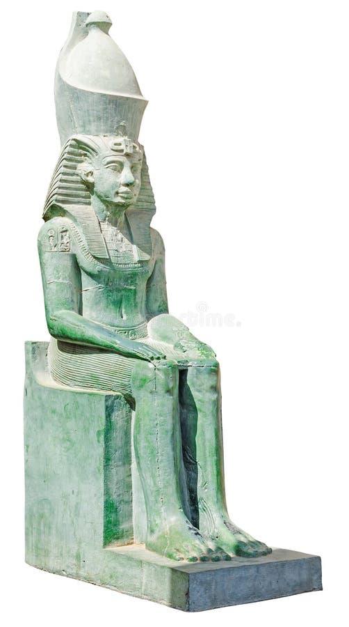 Het oude standbeeld van Egypte van koning Amenemhet stock foto