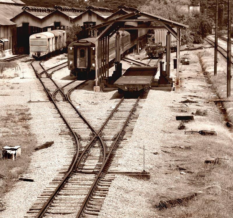 Het oude Station royalty-vrije stock afbeeldingen