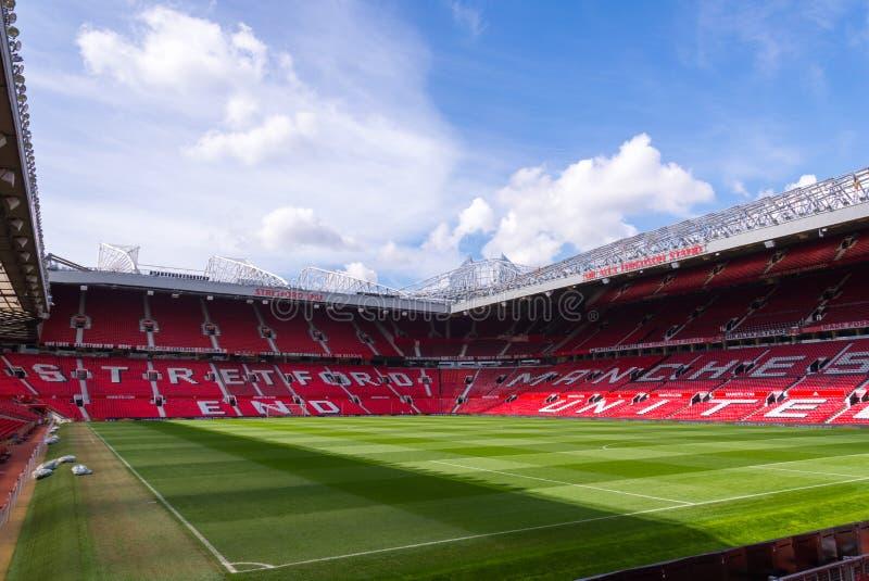 Het Oude Trafford-stadion royalty-vrije stock foto's