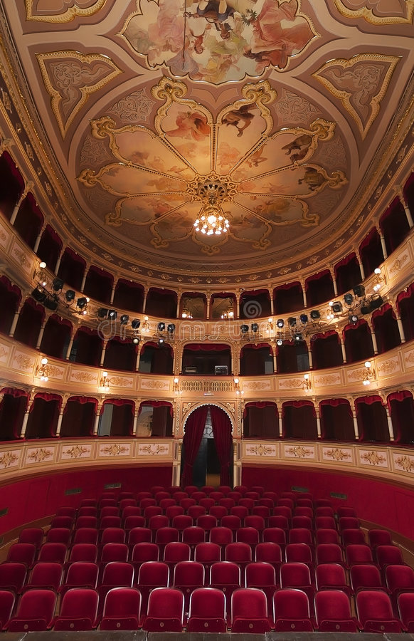 Het oude Trefpunt van het Theater royalty-vrije stock foto