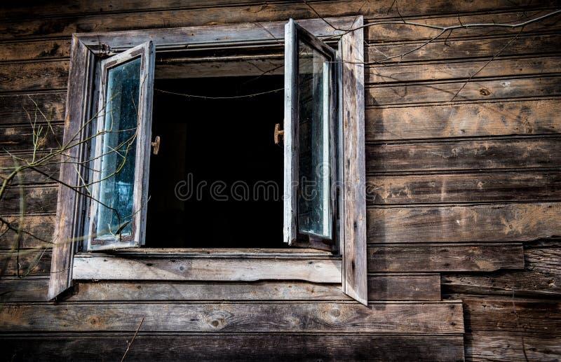 Het oude Venster van het Huis stock fotografie