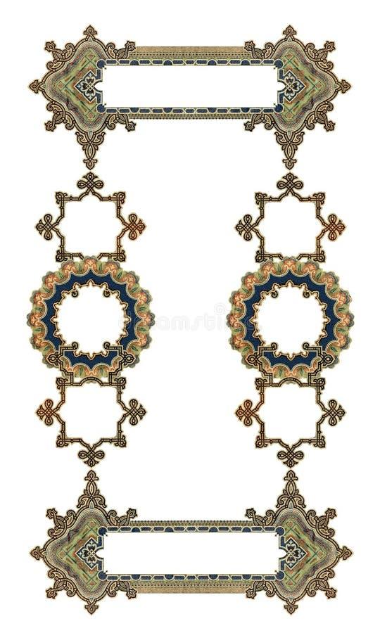 Het oude Victoriaanse Frame van de Kleur royalty-vrije illustratie