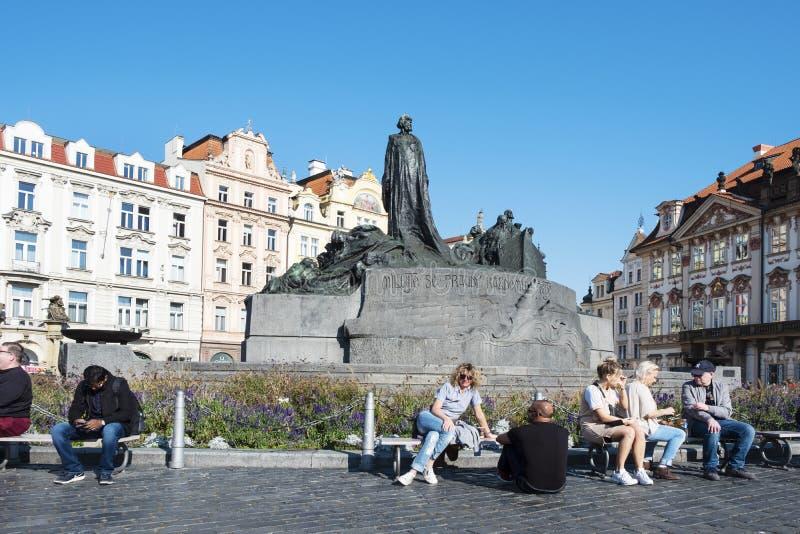 Het oude vierkant van de Stad in Praag, Tsjechische Republiek royalty-vrije stock afbeeldingen