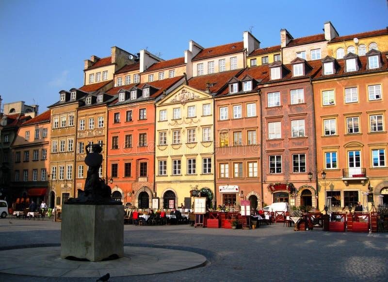 Het oude Vierkant van de Stadsmarkt stock foto