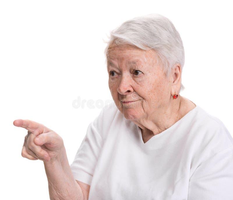 Het oude vrouw richten royalty-vrije stock foto