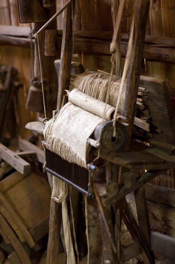 Het oude weefgetouw stock fotografie