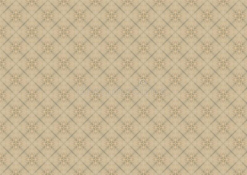 Het oude Witte Patroon van het Dekbed van het Kant stock illustratie