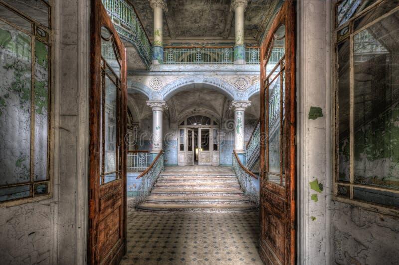 Het oude ziekenhuis in Beelitz royalty-vrije stock foto