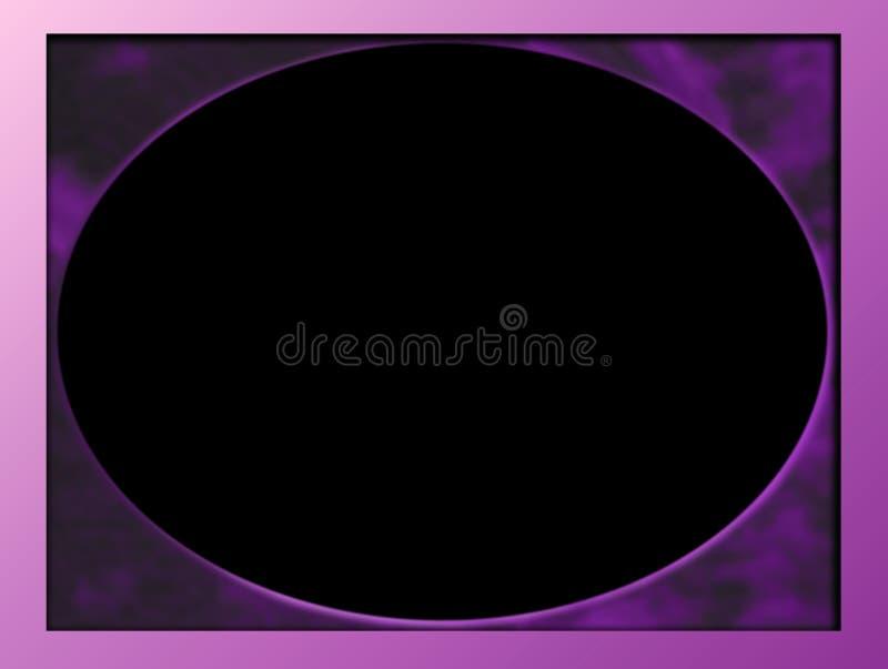 Het ovale Mauve Frame van de Foto -/Roze stock illustratie