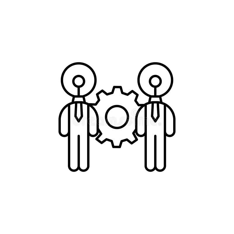 Het overbrengen van vaardigheid het trainen pictogram Element van het pictogram van de bedrijfsmotivatielijn royalty-vrije illustratie
