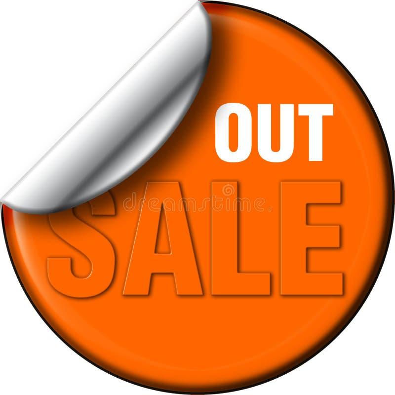 Het overdrukplaatje van de verkoop uit stock fotografie