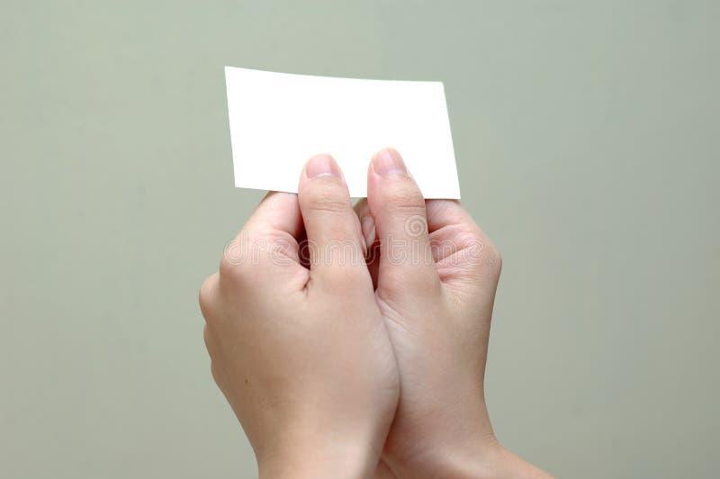 Het overgaan van namecard royalty-vrije stock afbeeldingen