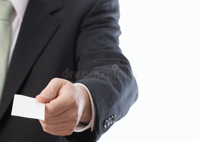 Het overhandigen van Adreskaartje stock foto's