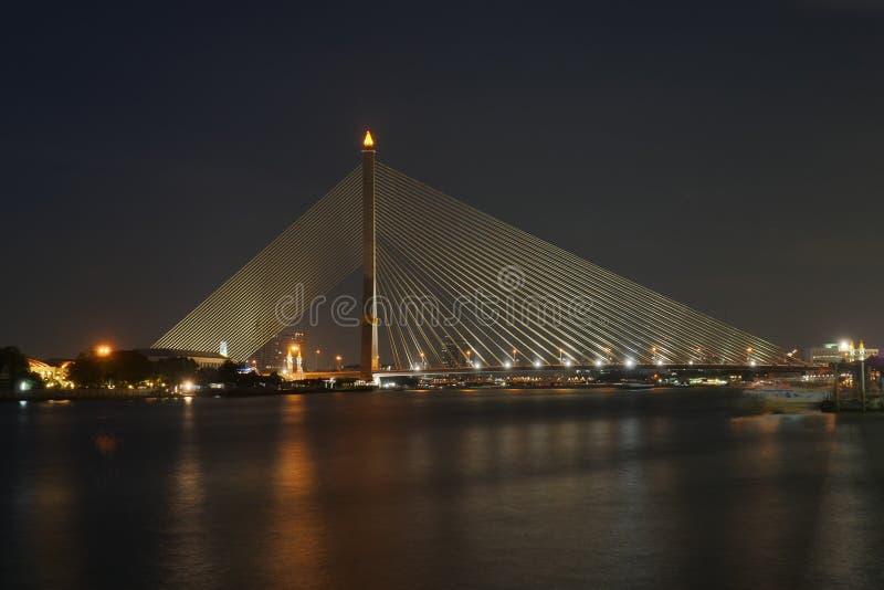Het overheersen van Chao Phraya River stock fotografie