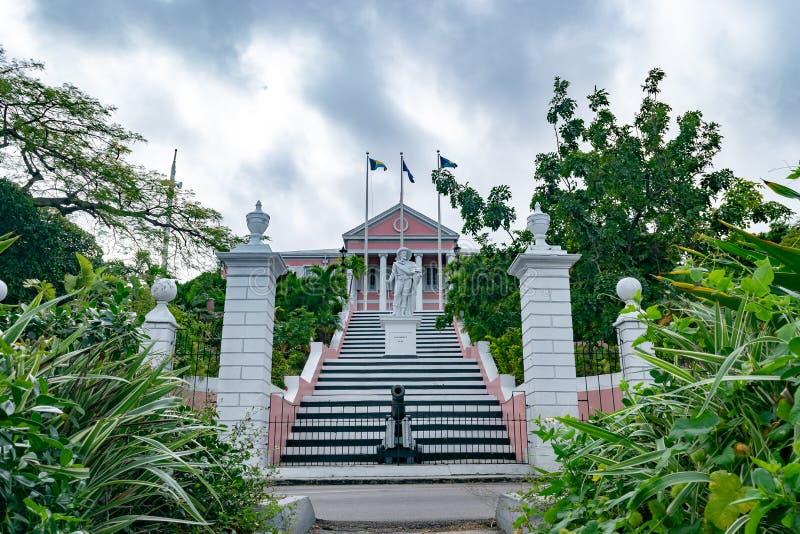Het Overheidshuis in Nassau, de Bahamas royalty-vrije stock foto