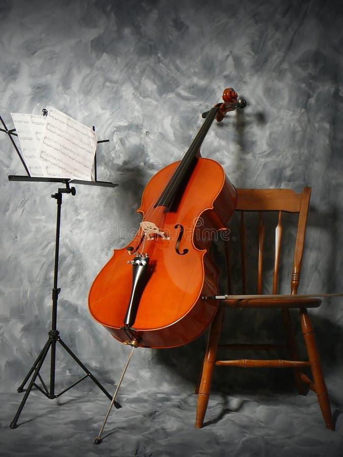 Het overleg van de cello stock afbeeldingen