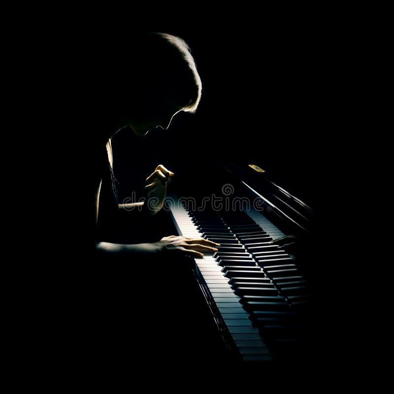 Het overleg van de piano stock afbeeldingen