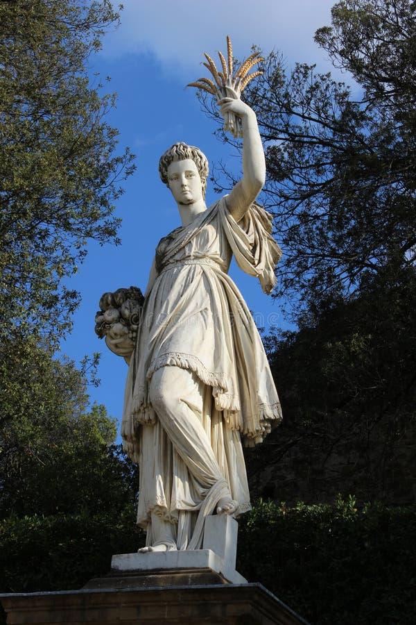 Het Overvloedstandbeeld in Boboli tuiniert, Florence, Italië stock foto's
