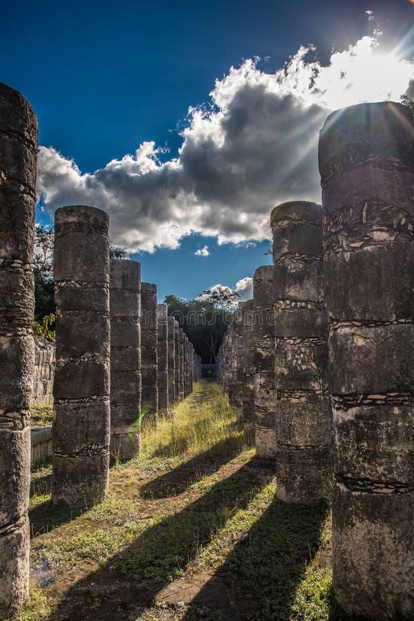 Het overweldigen chichen de oude beschaving van itzamexico royalty-vrije stock afbeeldingen