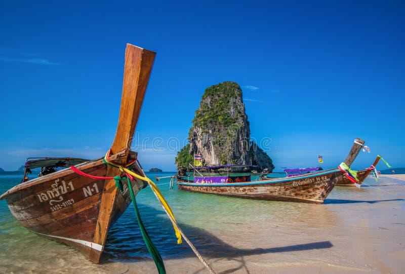 Het overweldigende Ao Phra Nang Strand, Thailand royalty-vrije stock afbeelding
