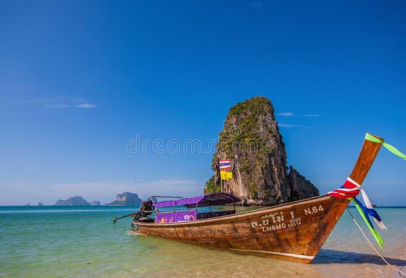 Het overweldigende Ao Phra Nang Strand, Thailand royalty-vrije stock afbeeldingen