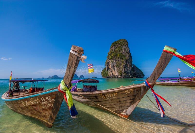 Het overweldigende Ao Phra Nang Strand, Thailand royalty-vrije stock fotografie