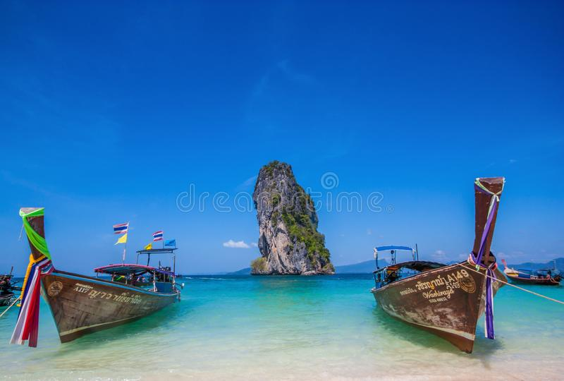 Het overweldigende Ao Phra Nang Strand, Thailand royalty-vrije stock foto