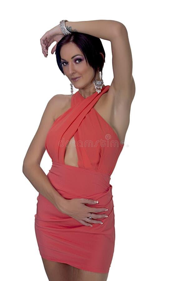 Het overweldigende Vrouwelijke Model van de Glamour royalty-vrije stock foto's
