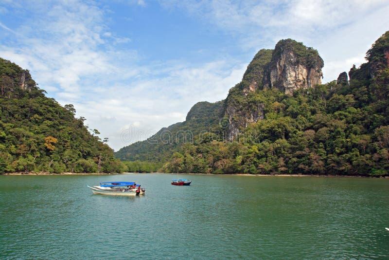 Het overzees van Andaman over Langkawi royalty-vrije stock fotografie