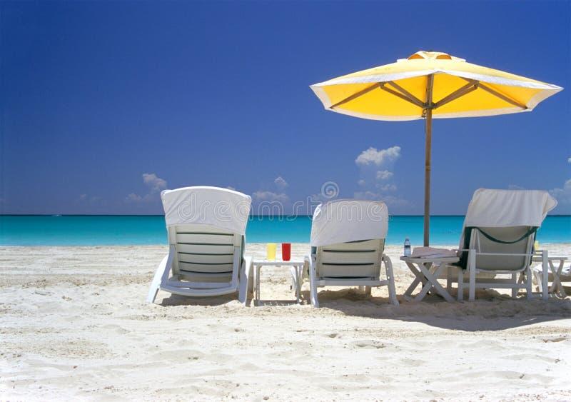 Het Overzees van het Zand van de zon royalty-vrije stock foto