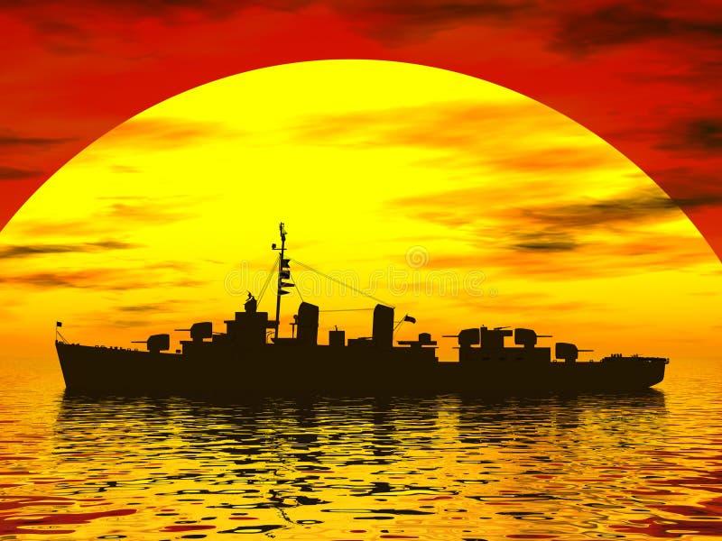 Het Overzees van het zuiden tijdens wereldoorlog 2 royalty-vrije illustratie