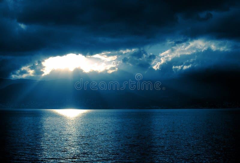 Het overzees van Korsika stock afbeeldingen