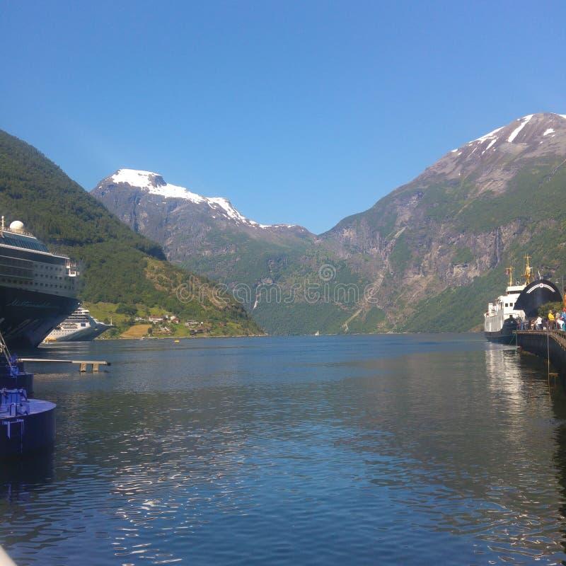 Het overzees van Noorwegen royalty-vrije stock afbeelding