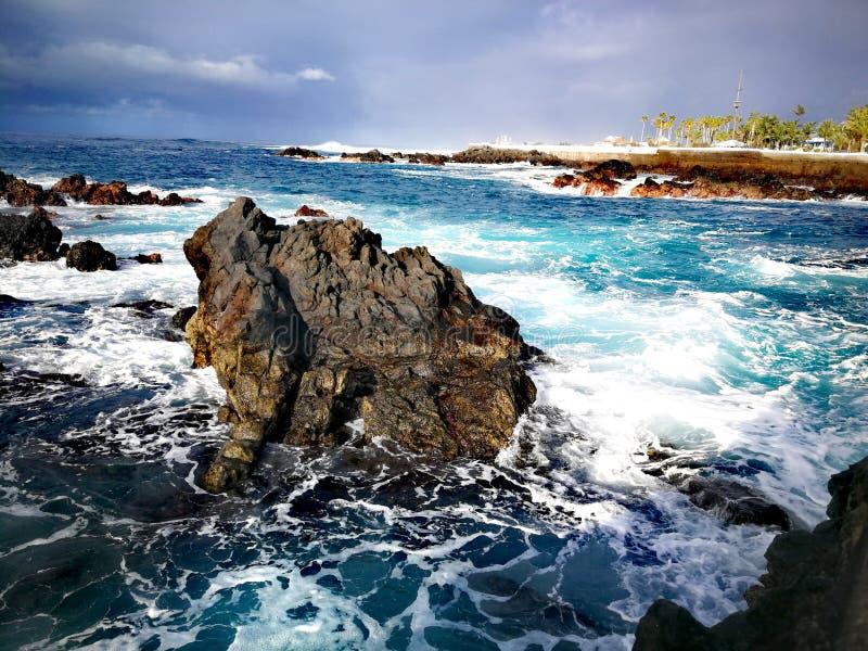 Het overzees van Tenerife stock foto's