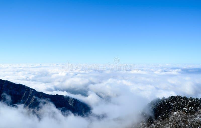 Het overzees van wolken stock afbeeldingen